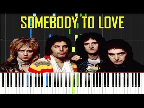 Somebody To Love - Queen [Synthesia Piano Tutorial]