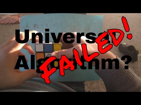 Failed attempts to solve the rubiks cube using the universal algorithm