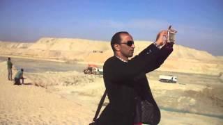 هانى عبد الرحمن رئيس تحرير قناة السويس الجديدة يرصد مشاهد الحفر بالكاميرا