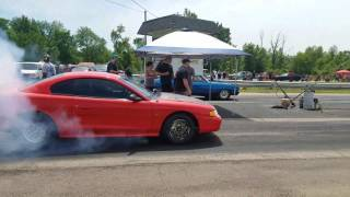 1st round of the first ever No prep shootout at Lapeer Dragway