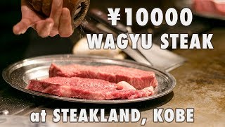 ¥10000 KOBE BEEF STEAK at Steakland, Kobe, Japan || Worth it?