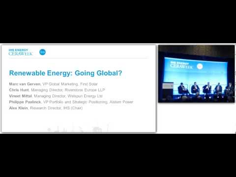 CERAWeek 2014: Renewable Energy - Going Global? With Marc van Greven, First Solar