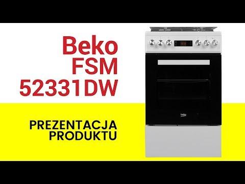Kuchnia Beko Fsm52331dw Youtube