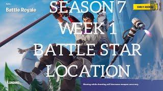 Fortnite Season 7 Week 1 Battle Star Location