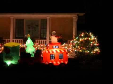 Holiday lights in Somers in 2011.