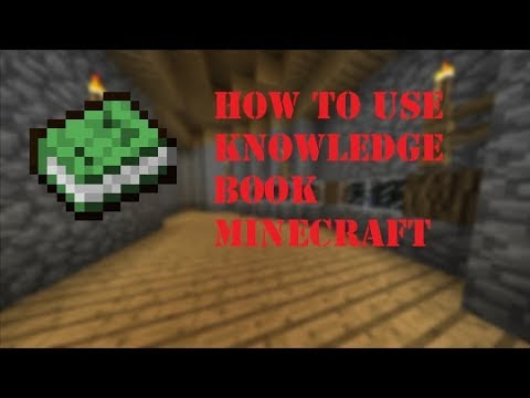 Setting Recipes For The Knowledge Book Minecraft