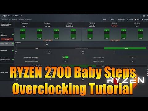 Ryzen 7 2700 4.025Ghz Overclocking Tutorial With Ryzen Master Software