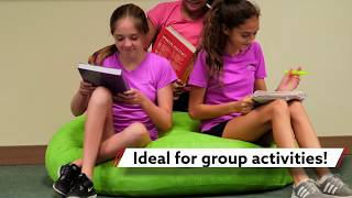A beanbag chair perfect for groups!