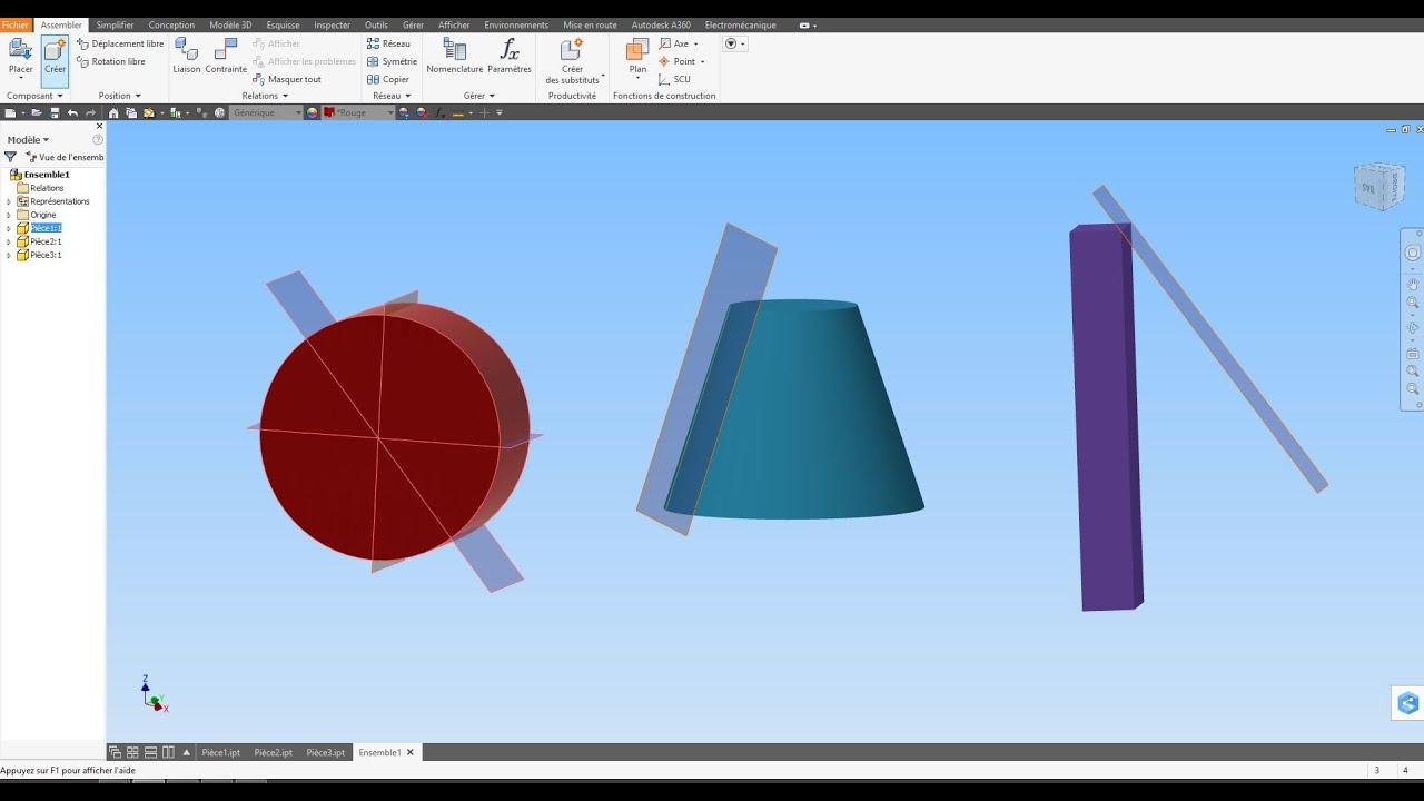 Tuto 66 autodesk inventor plan de construction selon un angle