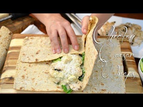 Chicken Caesar Wraps | Feat. Caesar Salad Dressing | Easy Meal