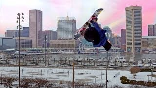 Snowboarding in Baltimore, MD - Federal Hill - Urban Riding
