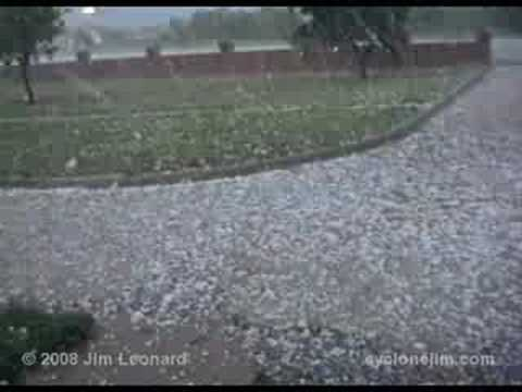 Intense Hail Storm - Buffalo Gap, TX - May 12, 1989