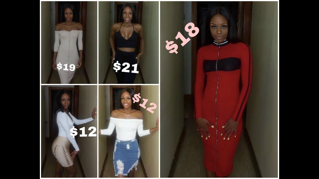 49cedd6678fa Outfits Under $25 !!!! BAD & BOUJEE ON A BUDGET ♡ FashionNova Haul ...