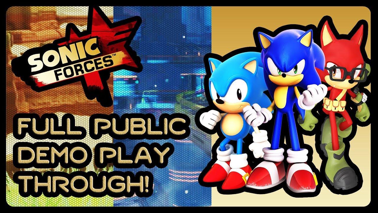 Sonic Forces Full Public Demo Playthrough 1080p