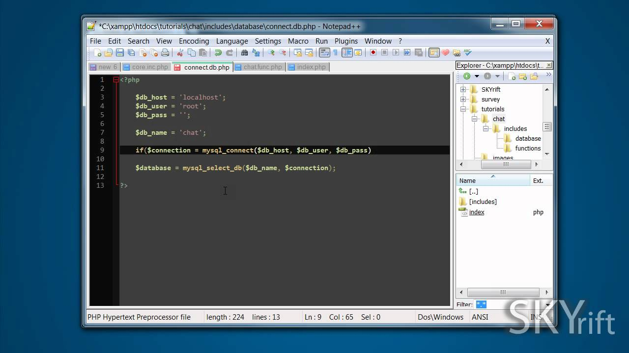 PHP + MYSQL Simple Chat Application