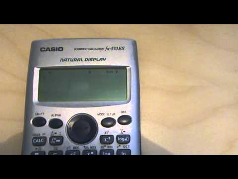 Como usar la memoria de la calculadora Casio fx 570 ES