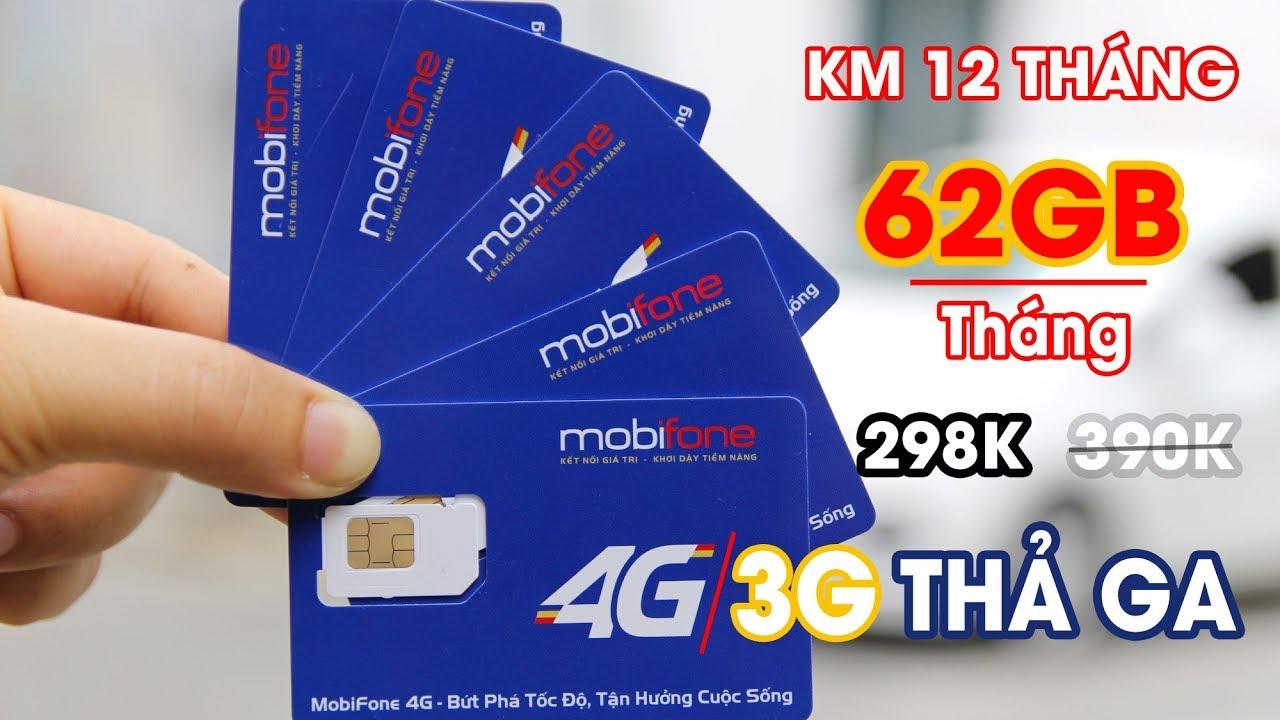 SIM 3G 4G Mobifone Siêu Khủng 62GB/tháng trong 12 tháng | Siêu Thị 3G