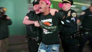 Slasher Resisting NYPD Arrest in Times Square