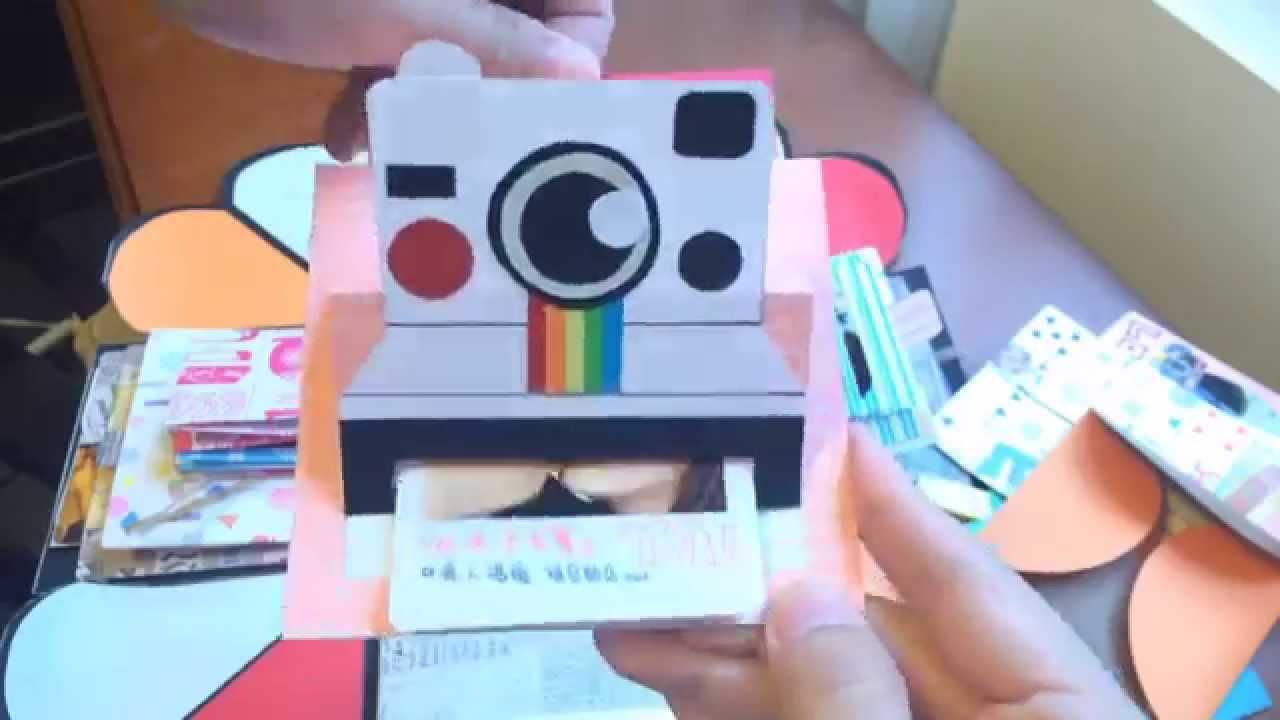 爆炸卡片 七周年禮物 手工卡片 禮物盒機關卡 | Doovi