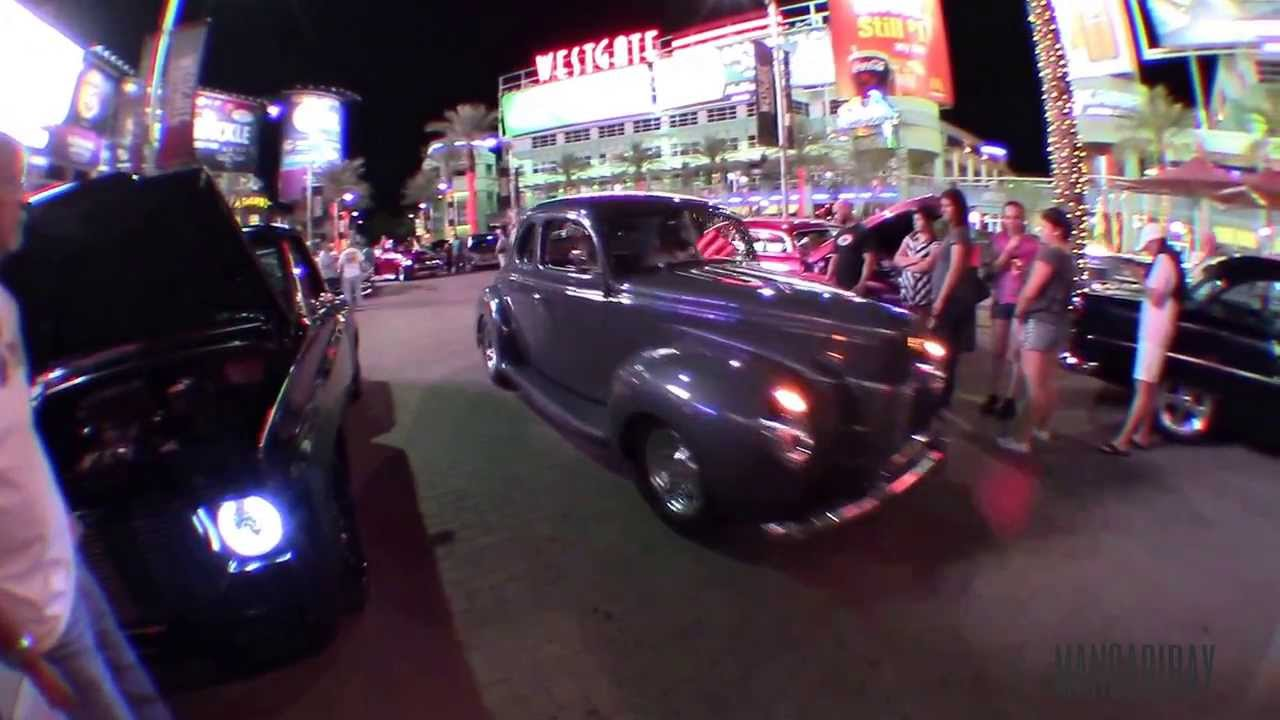 cars leaving hot rod nights at westgate in glendale az youtube. Black Bedroom Furniture Sets. Home Design Ideas