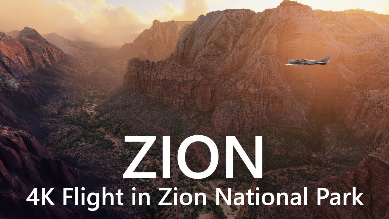 4K Zion National Park in Flight Simulator 2020 / ザイオン国立公園遊覧飛行