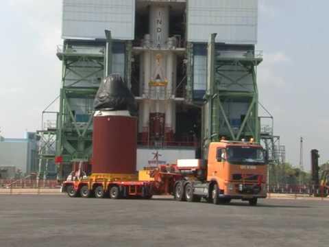 Integration of ISRO pslv c37 rocket