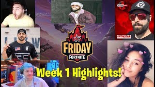 VENDREDI FORTNITE WEEK 1 FULL HIGHLIGHTS (GIVEAWAY) Keemstar Ninja tory lanez nickmercs ceeday
