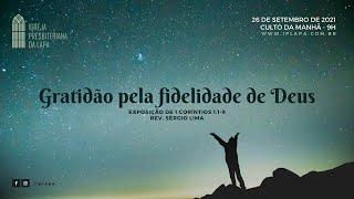 """""""Gratidão pela fidelidade de Deus"""""""