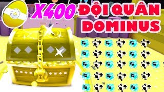 400 PET DOMINOS FEEDING GIANT GOLD CHESTS | ROBLOX PET SIMULATOR