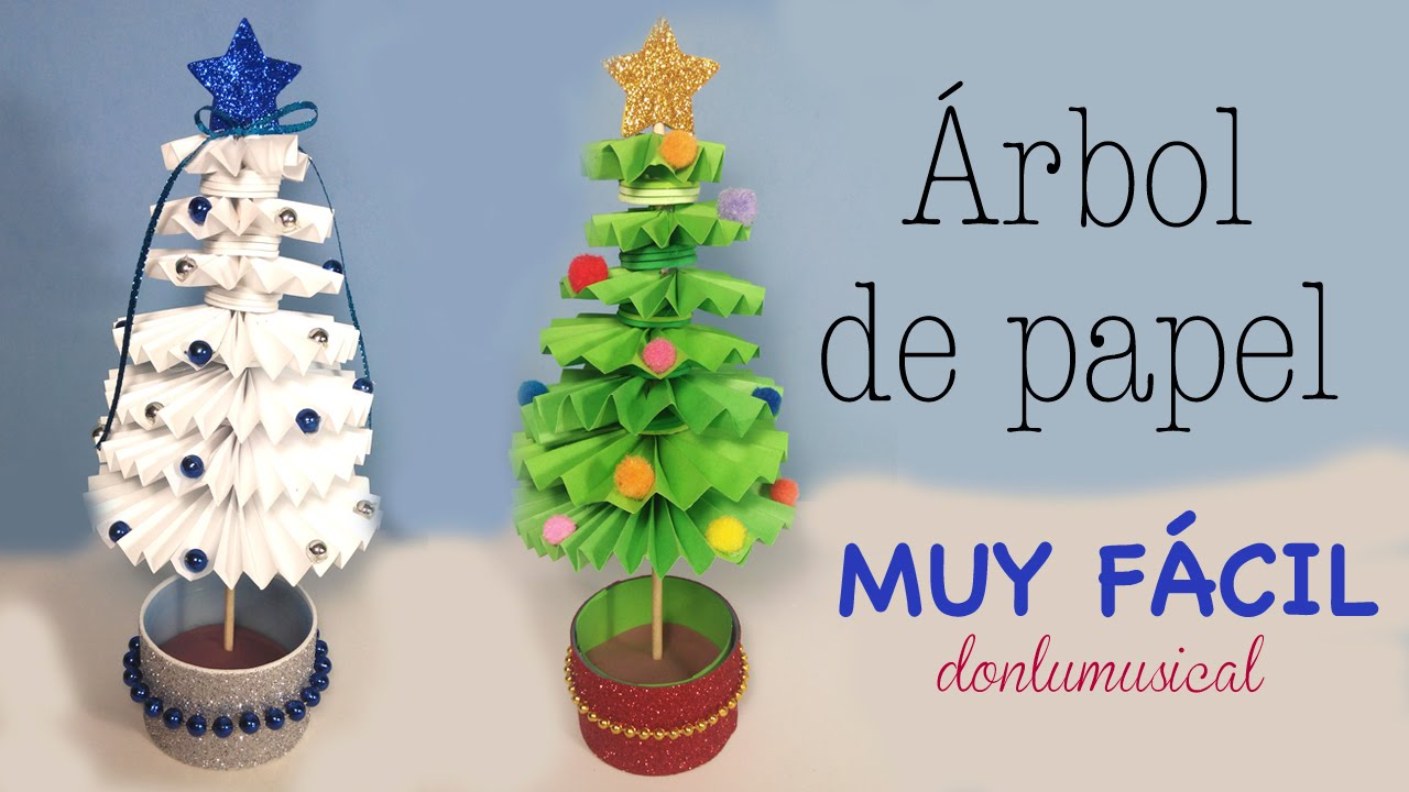 rbol de Navidad de papel Paper christmas tree YouTube