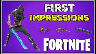 """Fortnite First Impressions """"Is it Worth Playing?"""""""