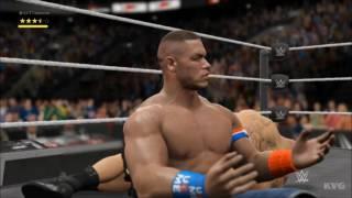WWE 2K17 - John Cena vs Brock Lesnar | Gameplay (HD) [1080p60FPS]