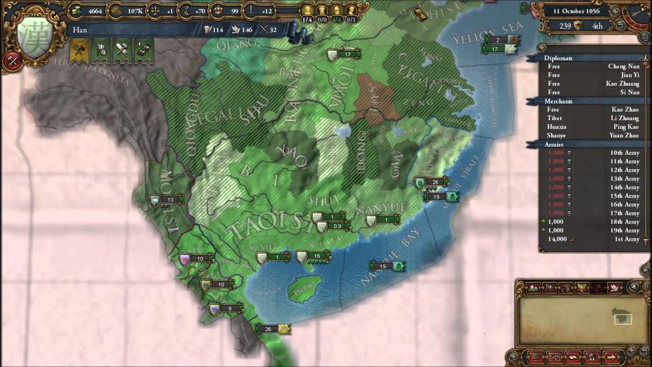 Lets Play EU4 Mod Aurora Universalis - Han Dynasty China Part 3