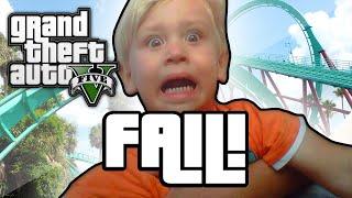 GTA V: ROLLER COASTER FAIL! (GTA 5 Next Gen Funny Moments)