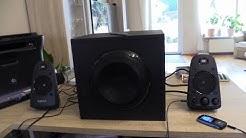 Logitech Z623 Soundsystem 2.1 Stereo-Lautsprecher THX (mit Subwoofer)