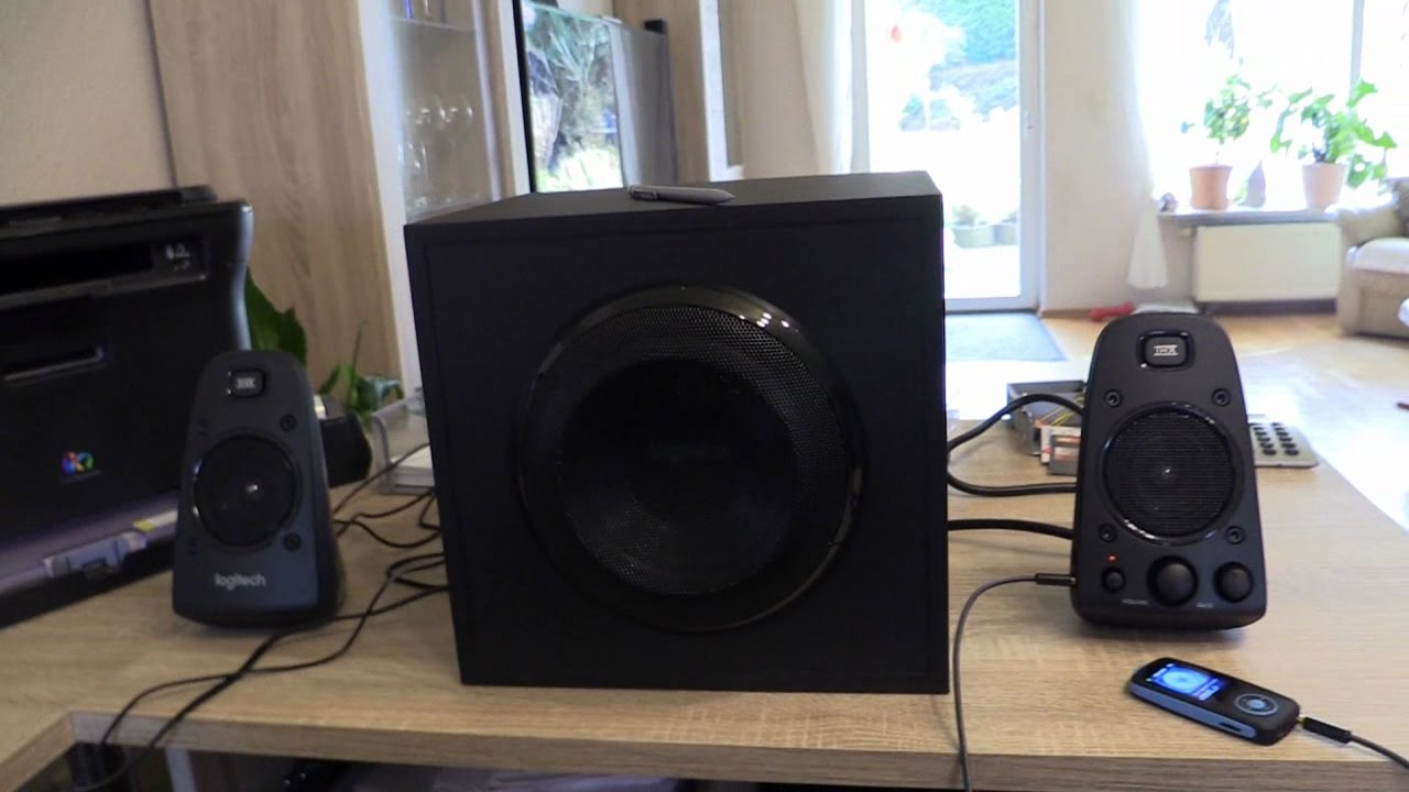 logitech z623 soundsystem 2 1 stereo lautsprecher thx mit. Black Bedroom Furniture Sets. Home Design Ideas