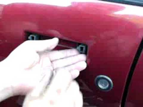 Outer door handle removal - YouTube