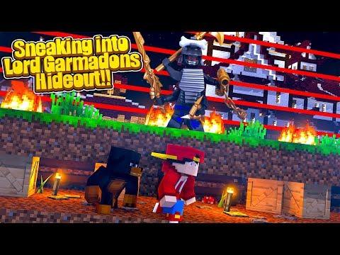 Minecraft Adventure - SNEAKING INTO LORD GARMADONS SECRET BASE!!