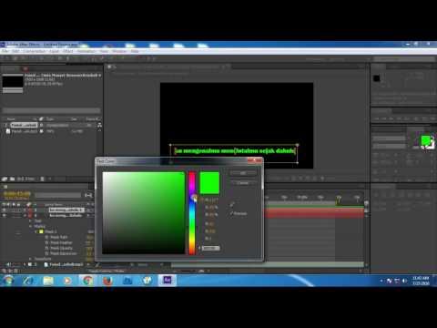 Membuat teks karaoke dengan Adobe After Effect CS6 Indonesia