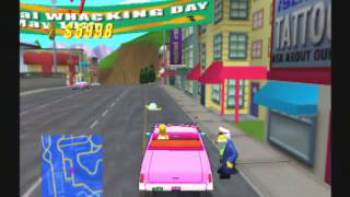 The Simpsons: Road Rage (PS2) Gameplay