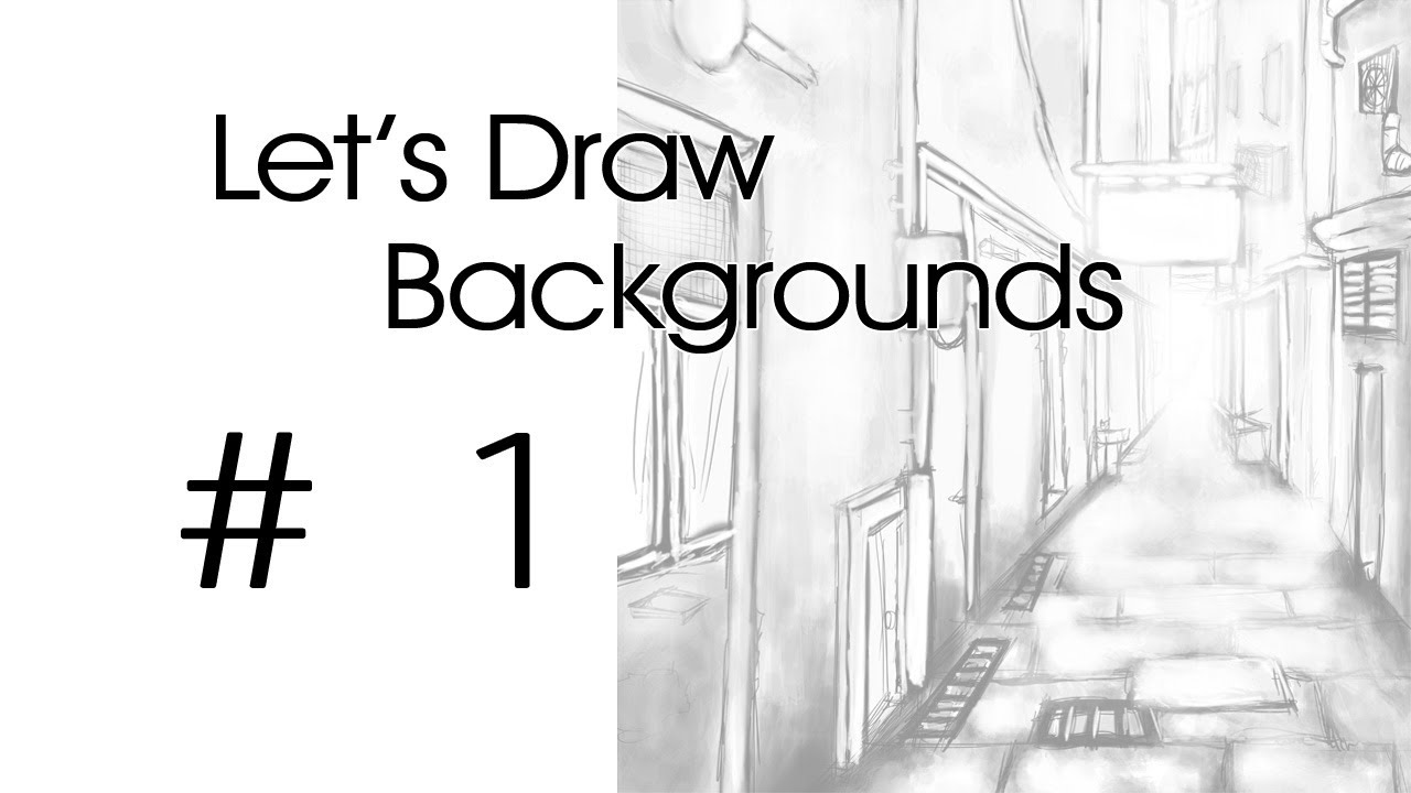 how to draw an alleyway