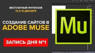 Практика создания сайта в Adobe Muse (запись мастер-класса от 14 декабря)