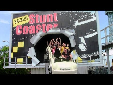 Backlot Stunt Coaster off-ride HD Kings Island