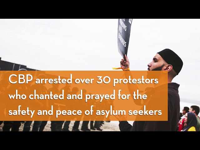 Video: CAIR Reps, Muslim Leaders Support Asylum-Seekers, Immigrants at San Diego Border Protest