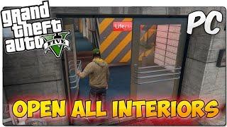 OPEN ALL INTERIORS MOD GTA 5 PC | Entra en los edificios cerrados de GTA V | MOD SHOWCASE