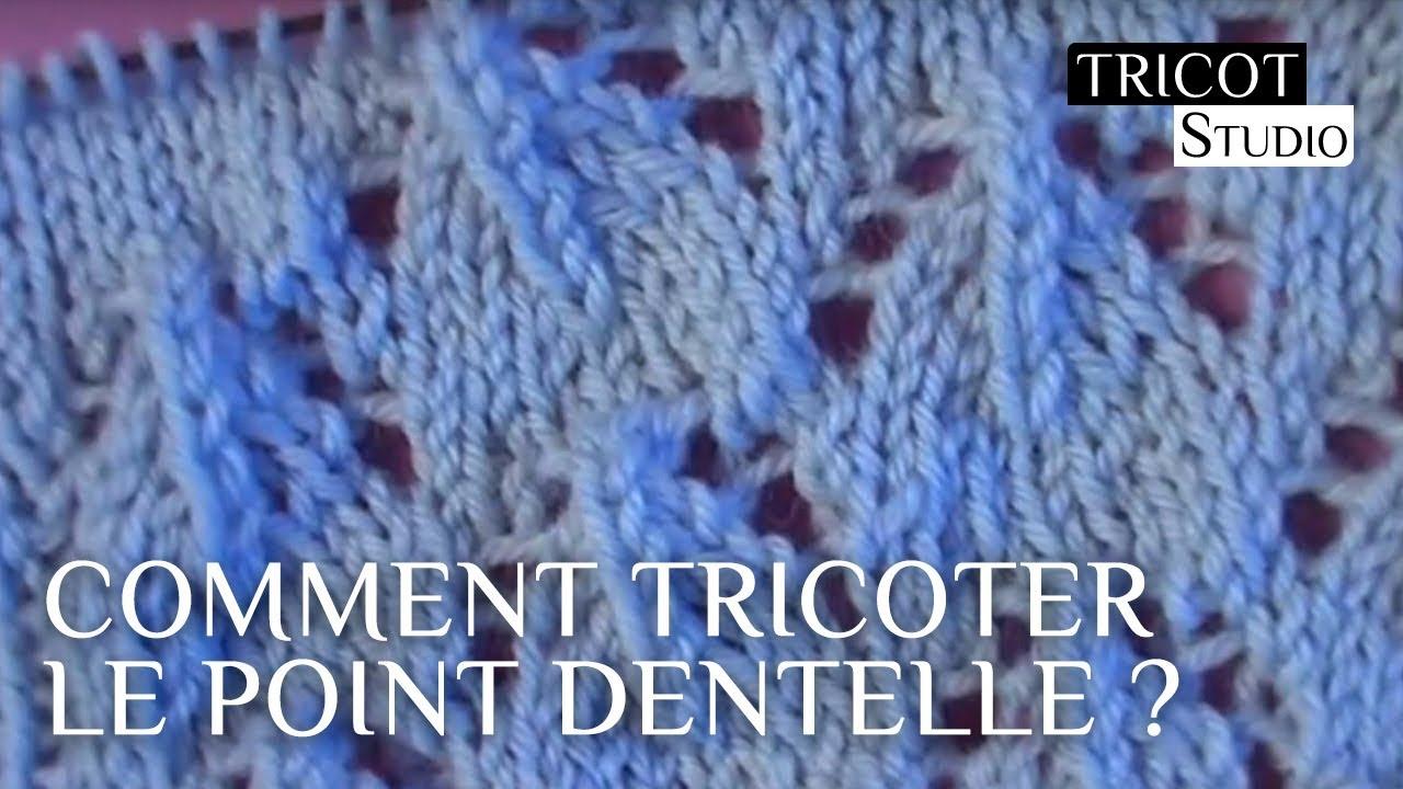 Point Dentelle Pour étole Tricot Studio