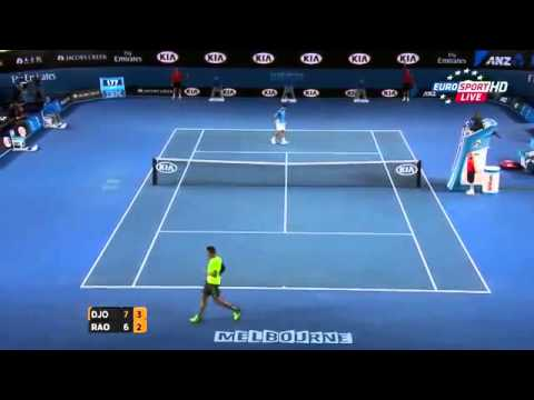 Novak Djokovic vs Milos Raonic Highlights 2015 Australian Open QF