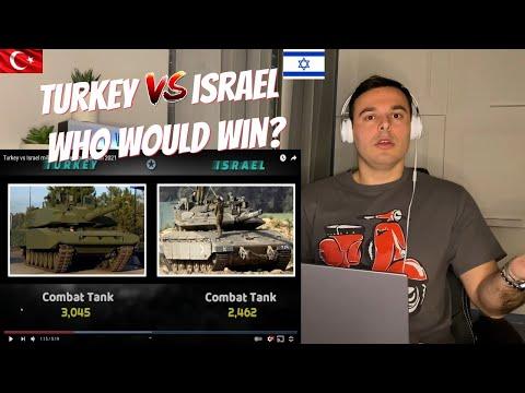 Turkey vs Israel military power comparison 2021   ITALIAN REACTION