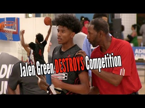 Jalen Green is DESTROYING DEFENDERS for Head Coach Sam Mitchell Adidas Gauntlet L.A. Day 1