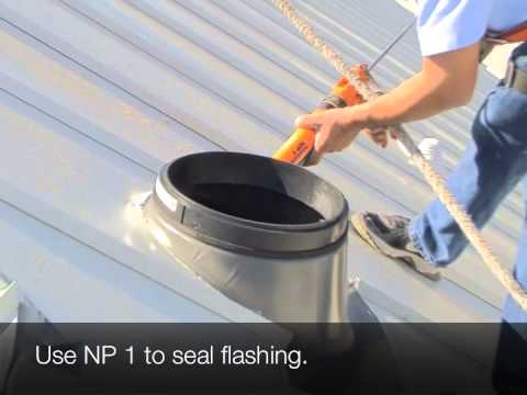 Sun Tunnel Installation On A Metal Roof Youtube